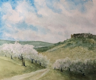 2016 0708 Table Rock with Pear Blossoms
